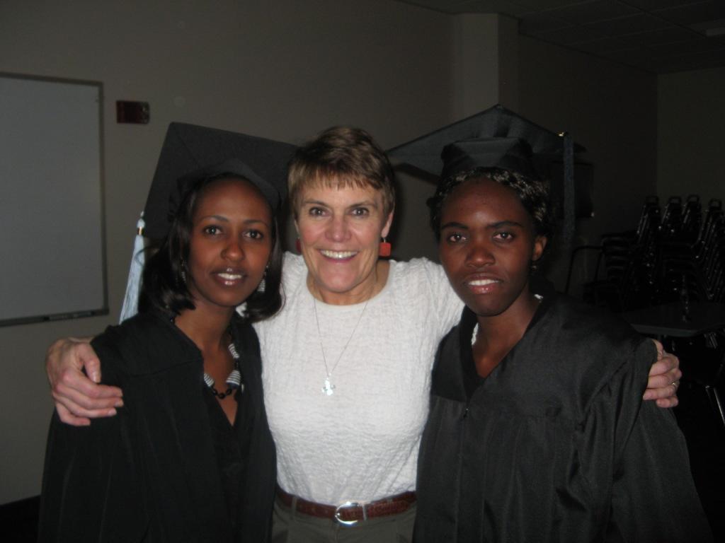 Shelley with Interns from Rwanda